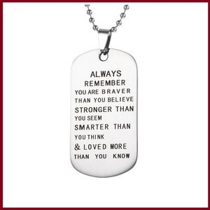 Always Remember Stainless Steel Necklace